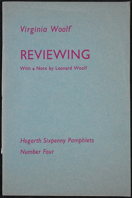 Reviewing - original pamphlet