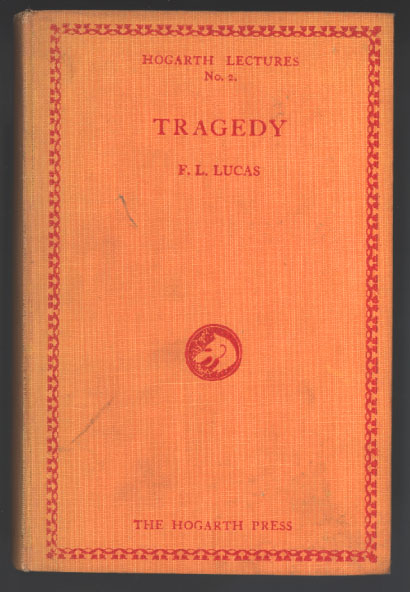 F.L.Lucas - Tragedy -  first edition