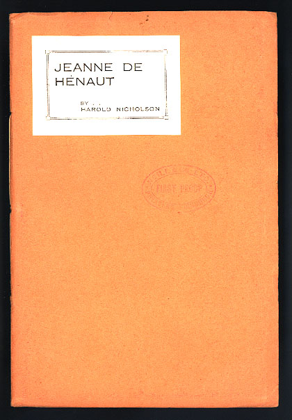 Jeanne de Henaut - first edition