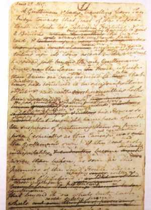 Jane Austen - manuscript page