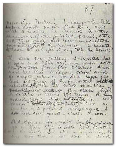 Heart of Darkness - manuscript page