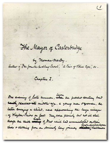 Thomas Hardy - manuscript page