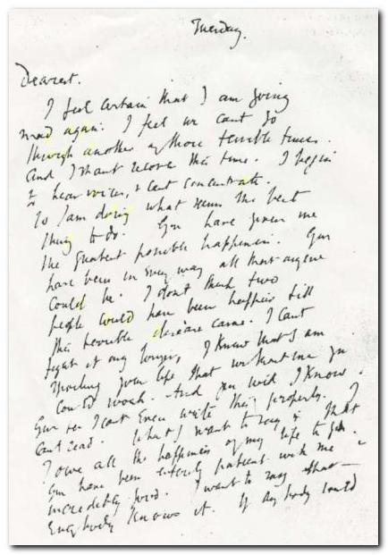 Virginia Woolf's handwriting
