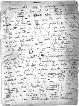 Franz Kafka - manuscript page