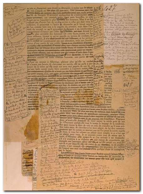 Marcel Proust - typescript and revisions