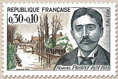 Marcel Proust - postage stamp