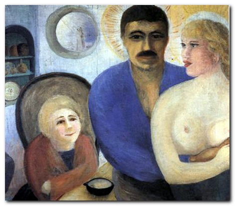 D.H.Lawrence painting - The Holy Family