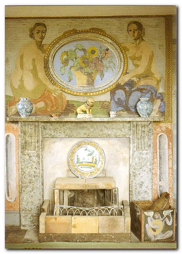 Charleston - fireplace and overmantle