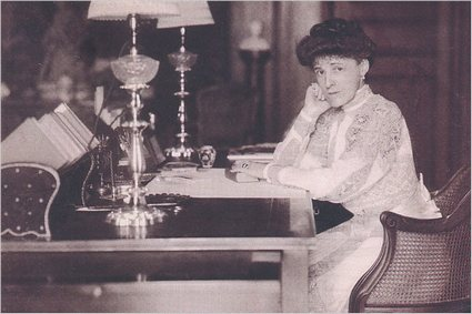 Edith Wharton at her desk