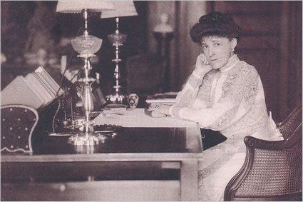 Edith Wharton at her desk