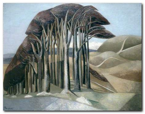 Paul Nash - Wood on the Downs